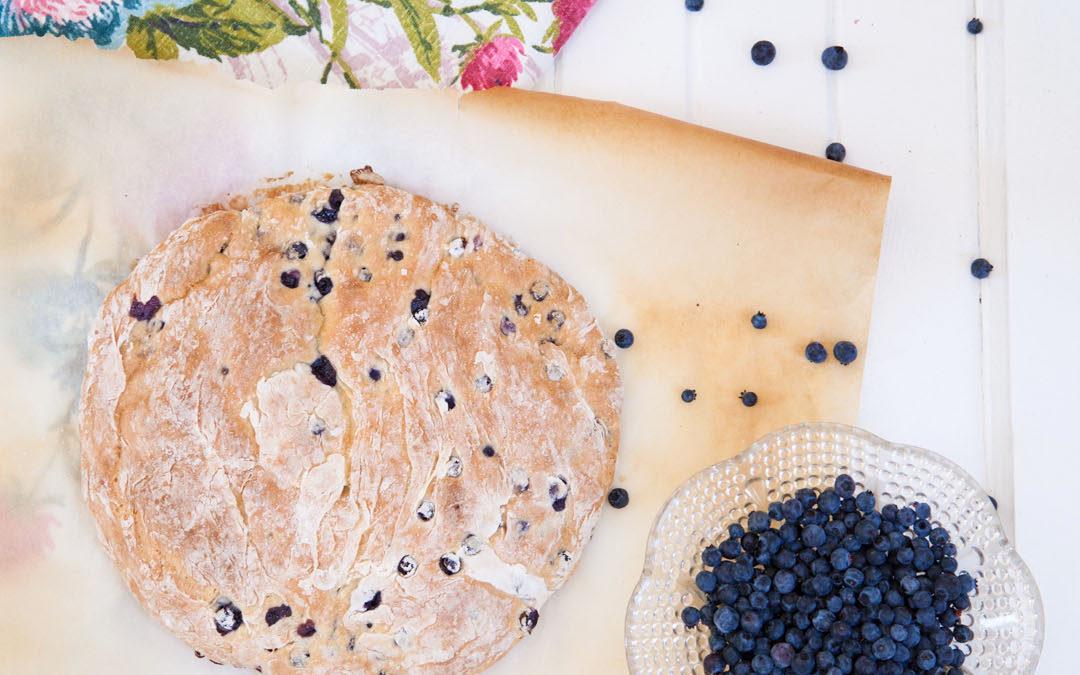 Blueberry Lemon Soda Bread with Lemon Essential Oil