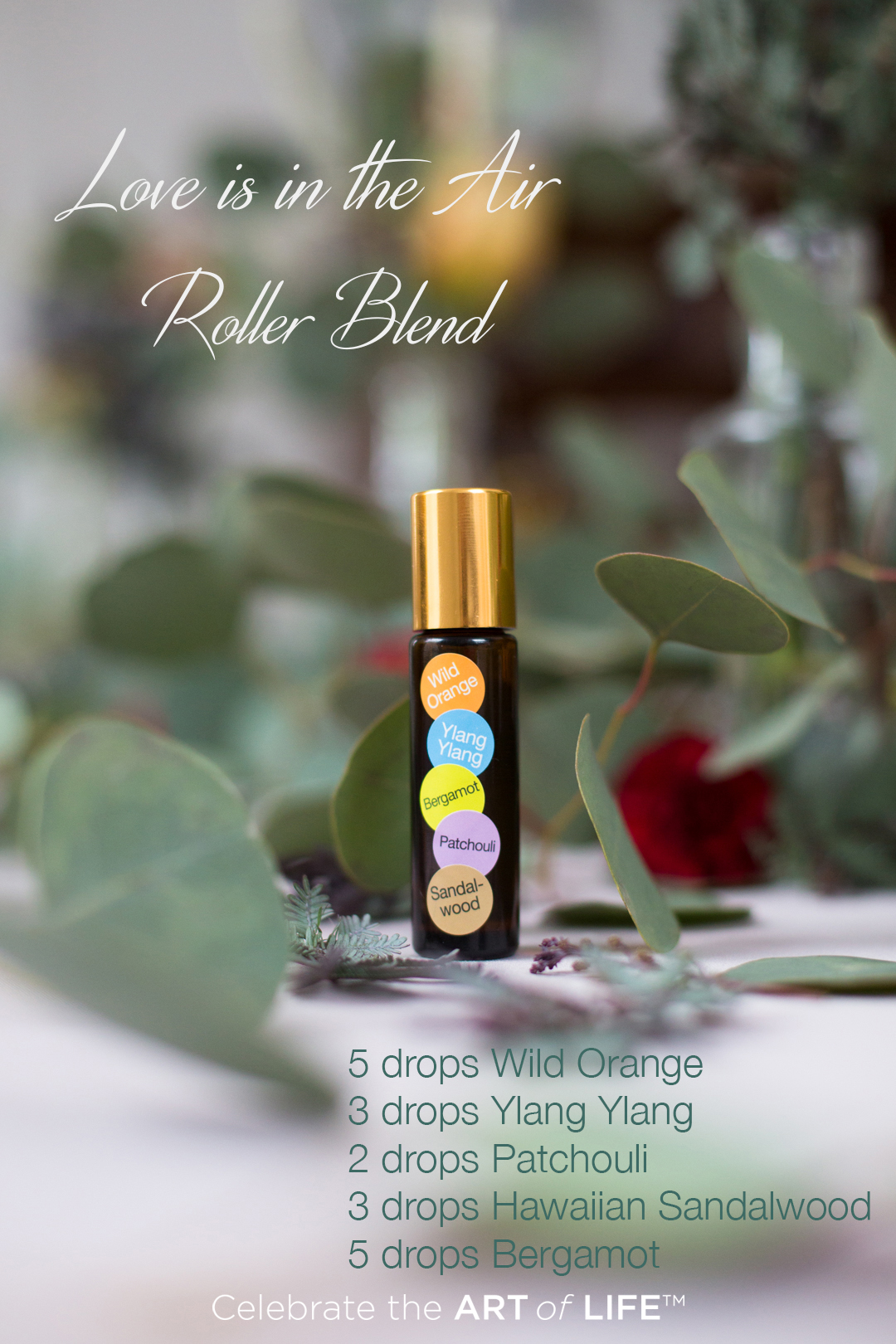 Essential oil blend for romance