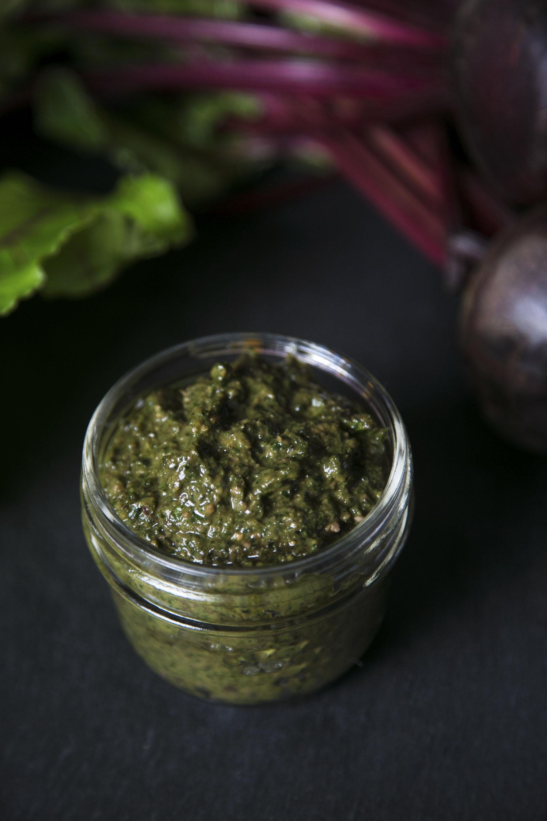 Beet Greens Pesto | Celebrate the Art of Life