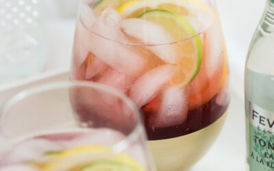 Sparkling Pomegranate & Tonic Mocktail