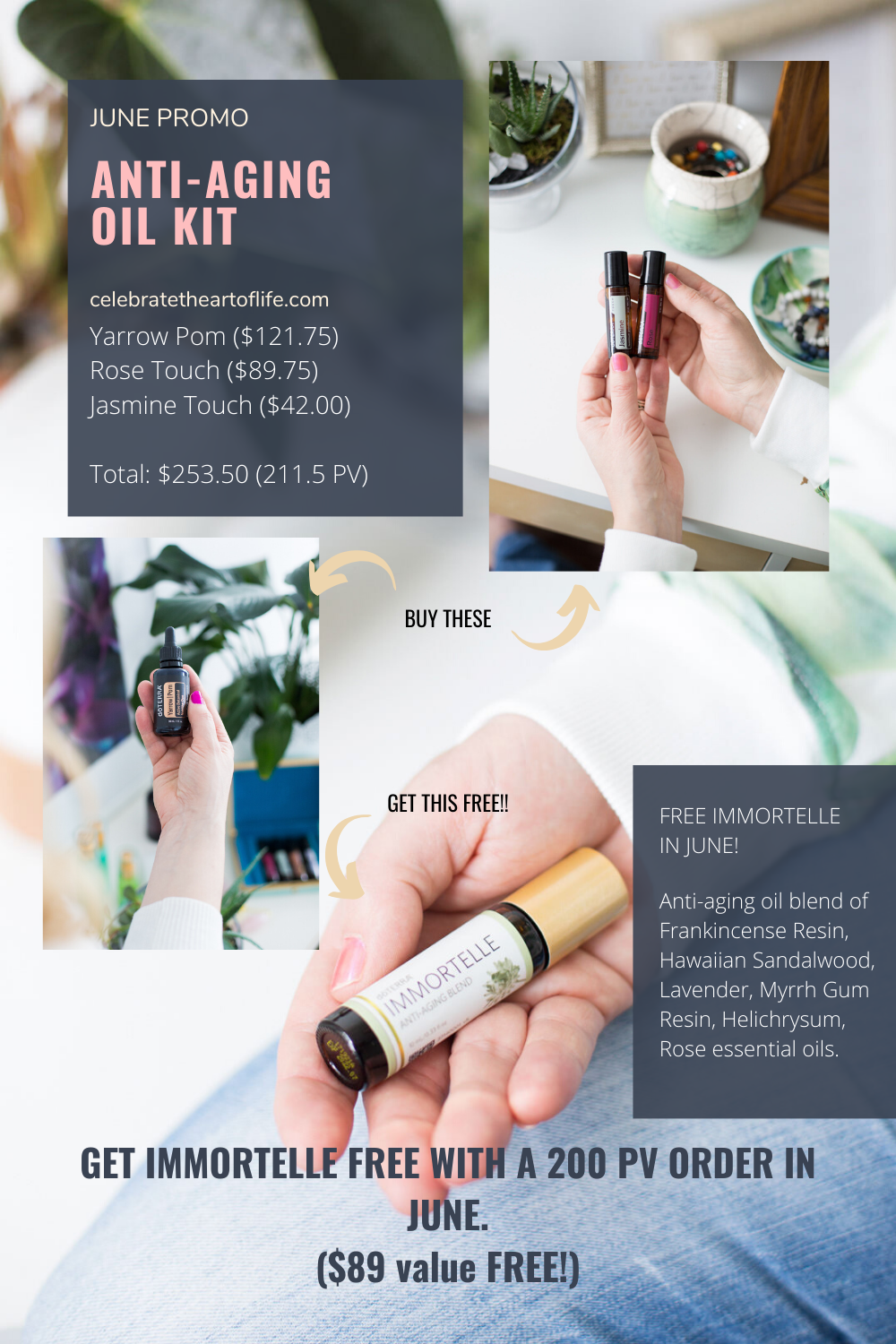 FREE doTERRA Immortelle anti-aging essential oil blend