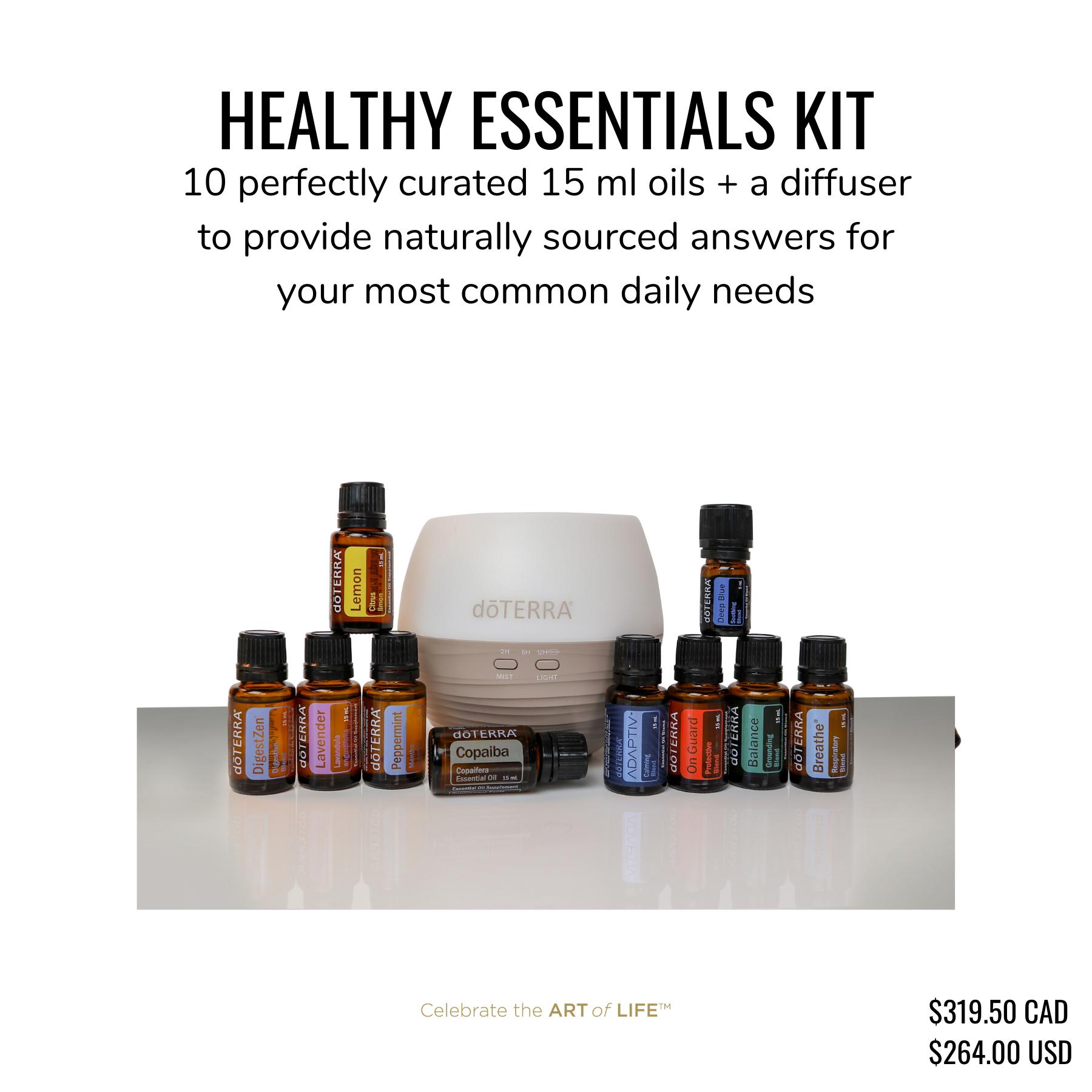 doTERRA Healthy Essentials Starter Kit