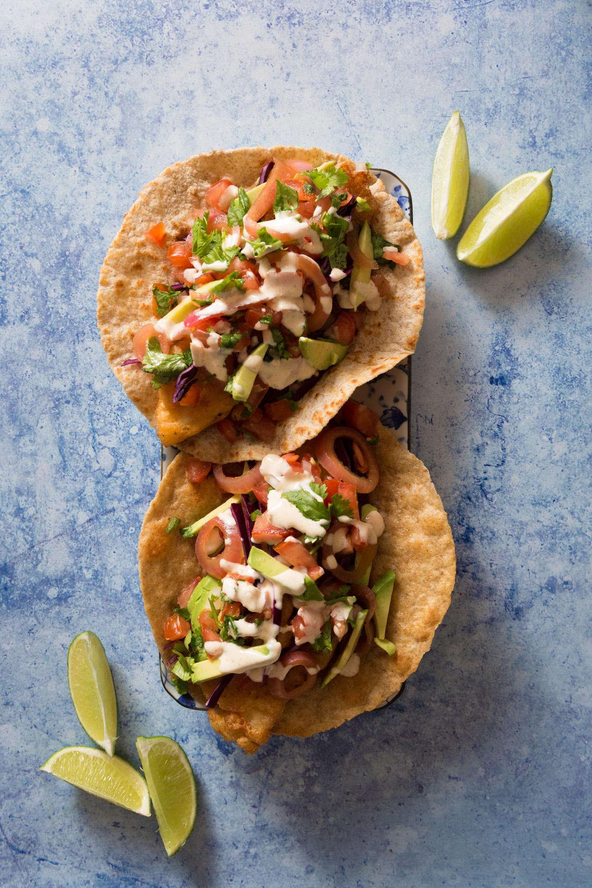 Baja Fish Tacos with Springhills Fish Barramundi