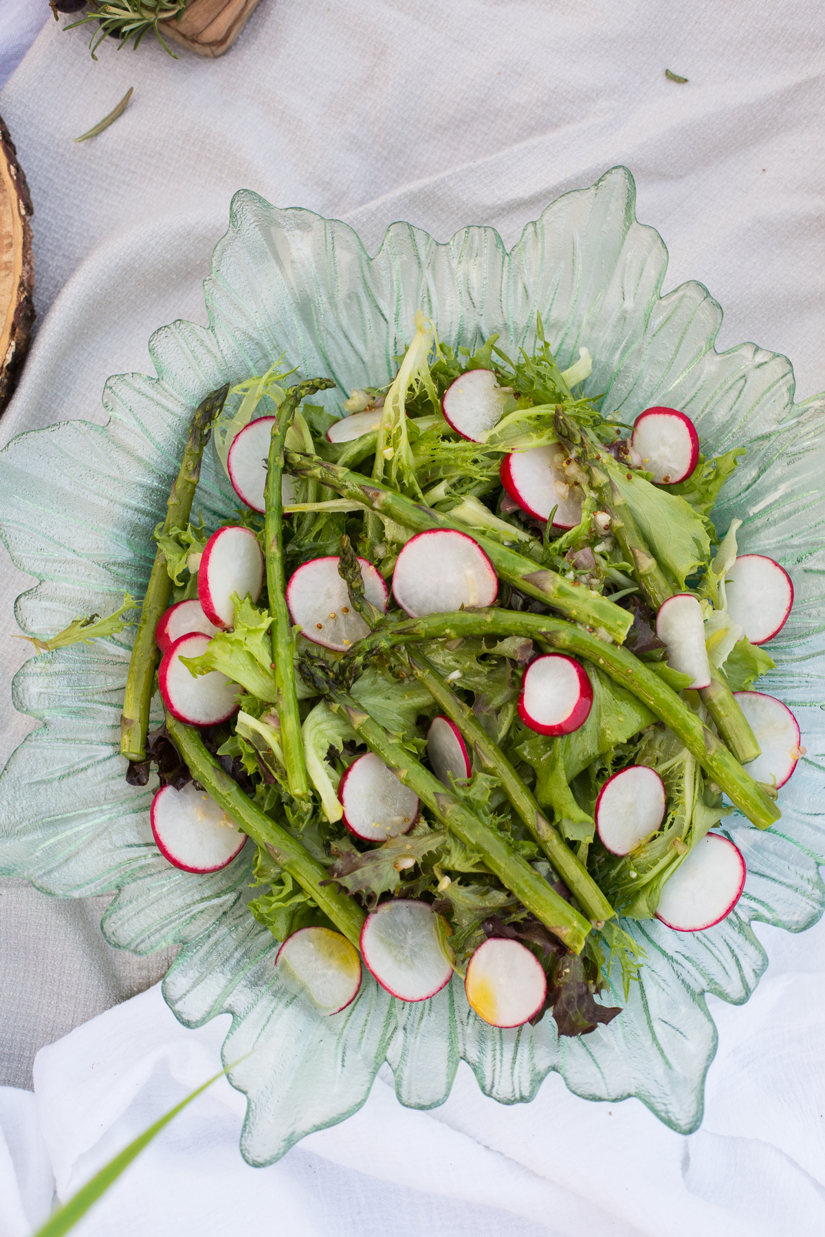 French country salad with Pinot Noir balsamic vinaigrette